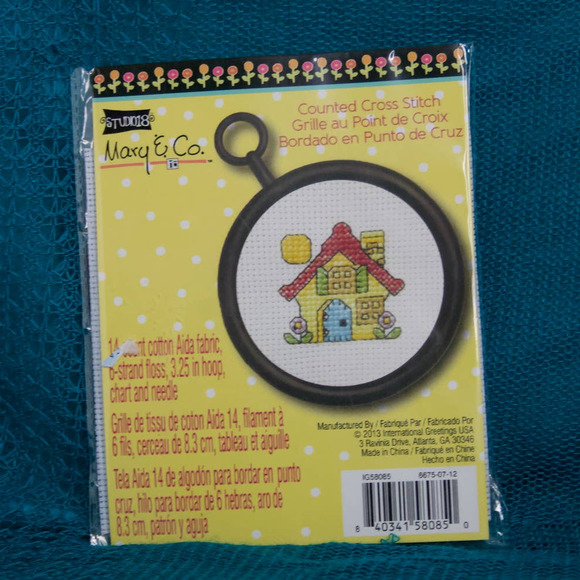 yellow house mary and co cross stitch kit